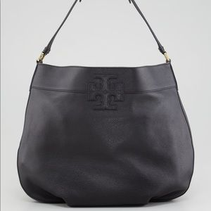 "Tory Burch ""Stacked T"" hobo bag."